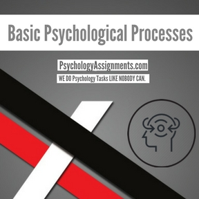 Basic Psychological Processes Assignment Help