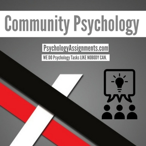 Community Psychology Assignment Help