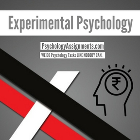 Experimental Psychology Assignment Help